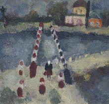 Екатерина Григорьева. Мост. 1968. Холст, масло. Собрание Ю. Петухова