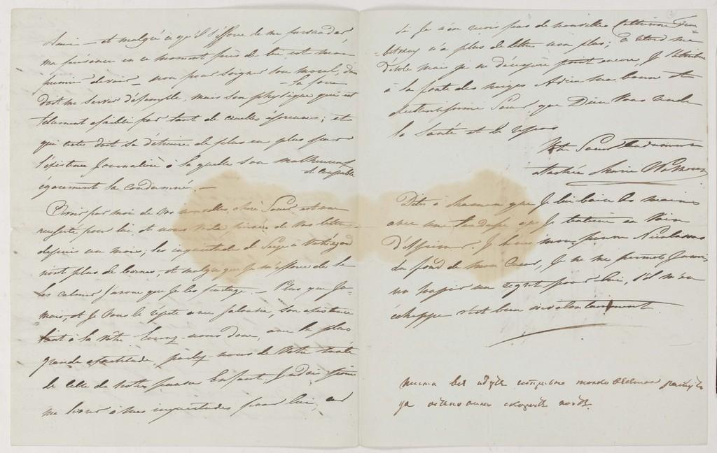 Письмо М.Н. Волконской к княгине С.Г. Волконской