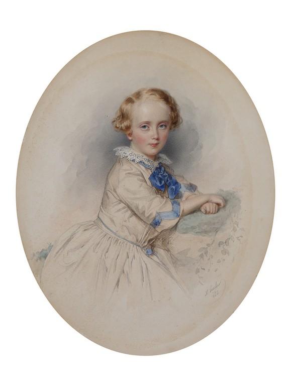 Портрет мальчика с синим бантом