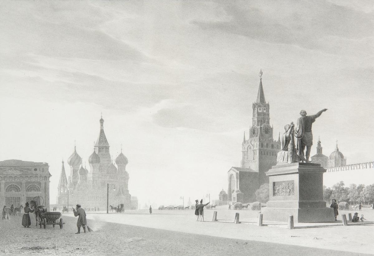 Вид Красной площади и памятника Минину и Пожарскому