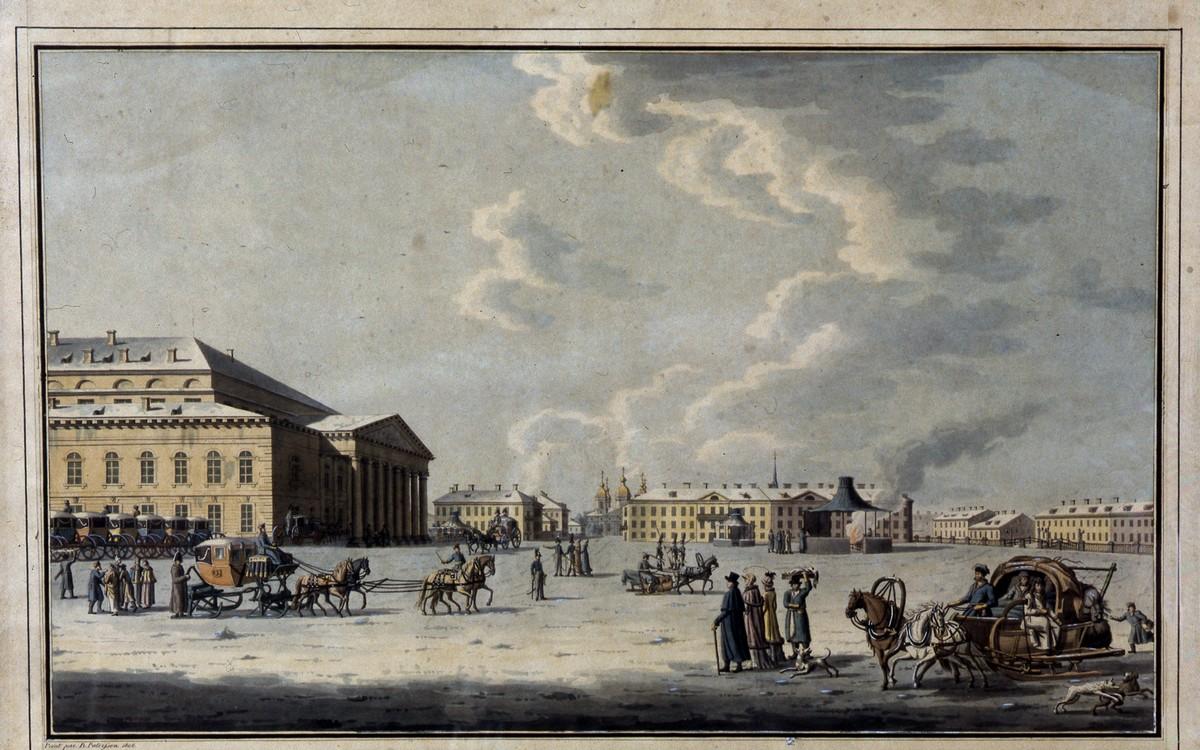 Большой каменный театр в Петербурге