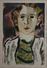 Т. Маврина. Автопортрет. Бумага, акварель. 1934.