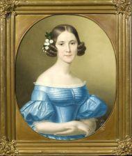 Неизвестный художник. Портрет А.М.Апраксиной. Около 1850. Холст, масло.