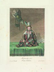 Е.М. Корнеев. Ташкентская девушка. 1813. Гравировал И. Кокере. Офорт, акватинта, цветная печать.