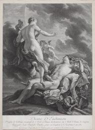 Диана и Эндимион. 1771. Ж.-Ш. Левассëр по оригиналу Ж.Б. Ванлоо 1731. Гравюра резцом и пунктиром.
