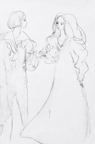 Ромео и Джульетта. 1967. Иллюстрация к трагедии У. Шекспира «Ромео и Джульетта». Бумага, тушь, перо, размывка. 27,0 х 18,0. Инв. 19631.