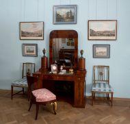 Часть экспозиции Государственного музея А.С. Пушкина.