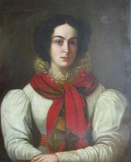 Камилла Ле-Дантю. Масло. Н.П. Козлов. 1831.