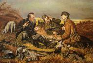 В. Перов. Охотники на привале.