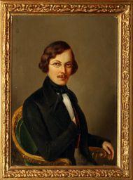 Е. Больтц. Портрет Н.В. Гоголя. 1845 г. Холст, масло. Из собрания Гос. литературного музея