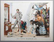 И. Пошон. Визиты в день Нового года. 1814 г. Офорт, акварель. Из собрания Гос. музея А.С. Пушкина