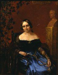Портрет Анны Алексеевны Арно (Олениной). А. Попов, с оригинала К. П. Брюллова. 1842