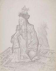 Ырсалиева Аламкан (артистка). Бумага, карандаш.