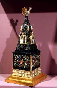 Ночник в форме башенки с флюгером-петушком. Завод Гарднера. 1850-1860 г. По мотивам сказки А.С. Пушкина