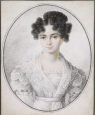 Неизвестный художник. М.Н. Раевская. 1820-е. Бумага, акварель, карандаш