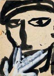 Эскиз иллюстрации к роману А.Малышкина «Люди из захолустья». 1960-е. Бумага, тушь, гуашь. 17,4 х 25,7