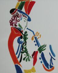 А.Н. Бурганов. Пушкин играет на саксофоне. 2000 г.