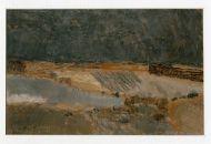 С. Жаворонков. Тень над полем. 2008. Бумага, пастель