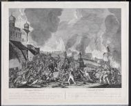 С. Карделли. Пожар Москвы в сентябре 1812 года. 1810-е. Резец.