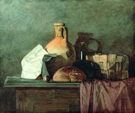 А. Жабский. Натюрморт с кувшином и хлебом