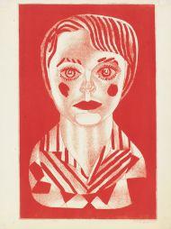 Александр Максимов. Портрет Веры. 1968. Бумага, цветная автолитография.