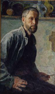Евгений Утенков. Автопортрет. 1985. Холст, масло.