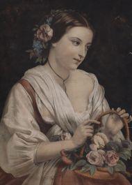 Клод Ренье. Цветочница.1857.