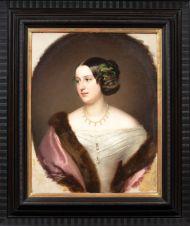 Шротцбер Ф. Клари-и-Альдринген Е.А. княгиня. 1847. Холст, масло. 69х54, овал в прямоугольнике.