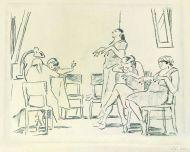 Маникюр. 1938. Бумага, уголь.