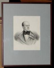 М.А. Алоф (Alophe) по оригиналу А.Козиной начала 1840х. П.Я. Чаадаев. Литография. Конец 1840х.