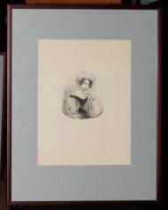 Е. Орловская. Портрет З.А. Волконской. Литография. 1930е.