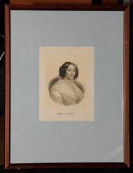 Н.х. Е.П. Ростопчина. Литография с тоном. 1840е.