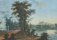 Н.х. Гатчина. Вид на Дворец со стороны Длинного острова.