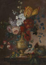 Н.х. Натюрморт с цветами в вазе.
