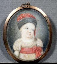 Н.х. Ребенок в красном колпаке. Миниатюра