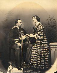 Портрет  Н.М. и О.П. Орловых. Начало 1860-х. Неизвестный фотограф.