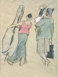 Вундеркинд. 1952. Бумага, акварель, карандаш.
