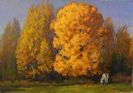 Юрий Бондаренко. Осень золотая. 2000. Холс, масло. 45х65