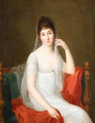 Н.х. Портрет неизвестной дамы в белом платье. Середина XIX в.