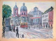 Н.В.Кузьмин. Арбатская площадь, 1930-е гг.