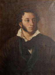 Г. Янин. Портрет А.С. Пушкина (1799-1837). Копия с оригинала В.А. Тропинина 1827 года. Около 1937. Холст, масло.
