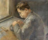 Д.В. Мирлас. Гравер. 1935 г. Х.м