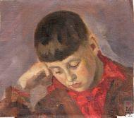 Д.В. Мирлас. Портрет сына Вацлава. 1938 г. Холст, масло