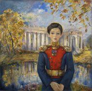 Ануфриева-Мирлас К.В.На фоне Александровского дворцах. м.1996 г.