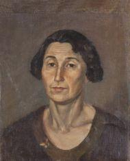 Мирлас Д.В.Портрет женщины с мотыльком 1934г.