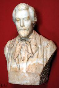 Луи Галле. Генрих Гейне, около 1920 г. Алебастр белый.