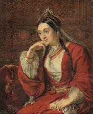 В.А. Тропинин. Портрет В.И. Лизогуб. Около 1847 г. Холст, масло