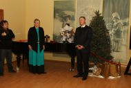 И. Лиепа и Латвийской Республики г-н Э.Скуя на  открытии  выставки.