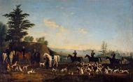 Неизвестный художник Сцена охоты. 1 половина 19 века Холст, масло.