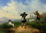 Солдаткин П.И. (1824-1885) На охоте. 1848. Холст, масло.
